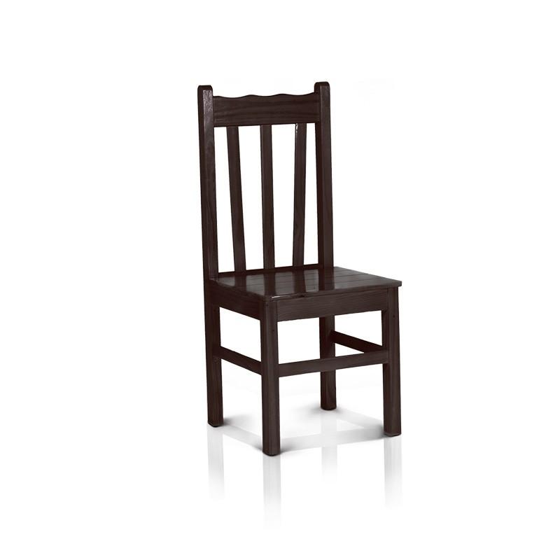 Cadeira com encosto alto - Tabaco