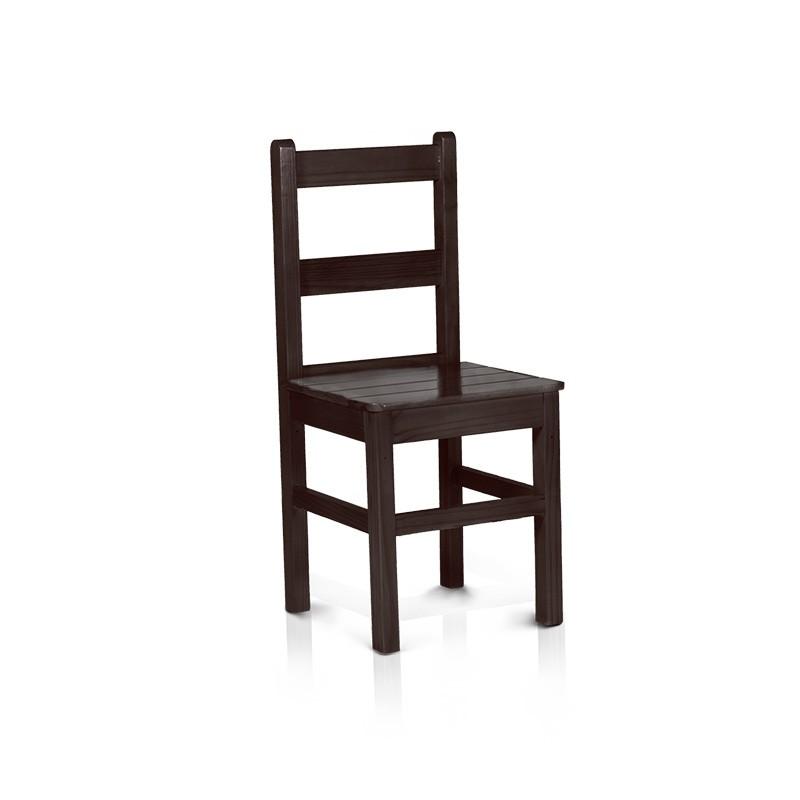 Cadeira com encosto baixo - Tabaco