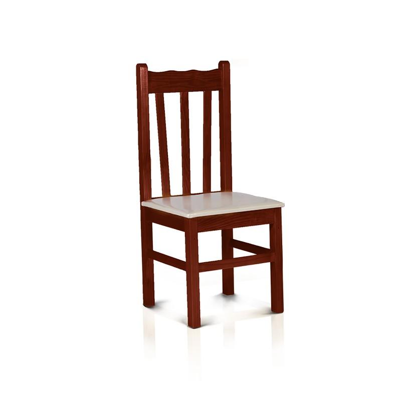 Cadeira estofada - Mogno