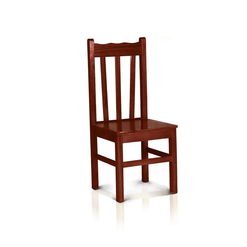 Cadeira com encosto alto - Mogno